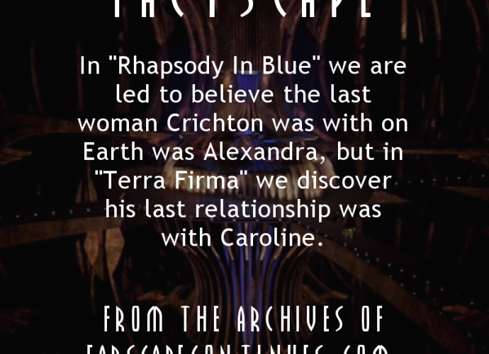 Crichton's Last Relationship