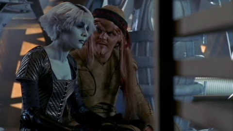 Chiana about to use sex as a weapon, this time against the man she loves.